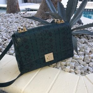 Versace bag - piton dark green -authentic